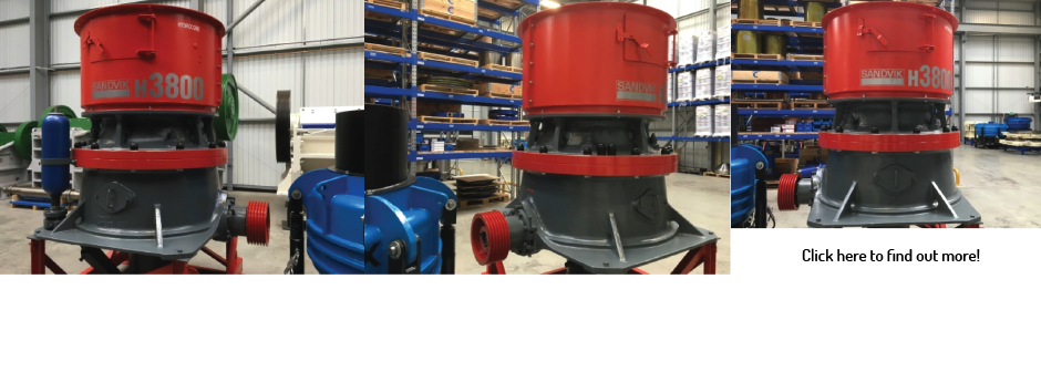 Sandvik H3800 Hydrocone Crusher (Reconditioned)